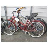 LOT OF ASSORTED BEACH CRUISERS: