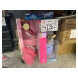 LOT WITH BARBIE DOLL & BABY DOLL WITH STROLLER