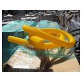 PALLET YELLOW PLASTIC TUBING