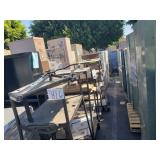 LOT OF STEEL ROLLING MEDIA RACKS, METAL STORAGE