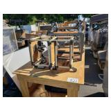ROW OFASSORTED WORK BENCH, ROLLING CARTS, SCHOOL
