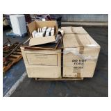 PALLET OF STEEL BELKIN DATA CABINETS AND MISC
