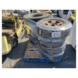 PALLET OF WHEELS AND TIRES