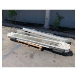 PALLET WITH STEEL COMMERCIAL VEHICLE BUMPERS
