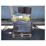PALLET OF METAL WASTE BASKETS AND SCHABEN