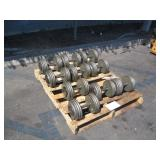 PALLET OF ASSORTED DUMBBELL WEIGHTS