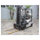 NISSAN MCP1F2A25LV 3 STAGE FORKLIFT PROPANE 4,700