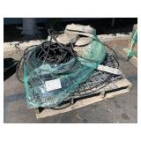 PALLET WITH FENCING MATERIALS, FIRE HOSES &
