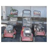 LOT OF 3 TORO PUSH LAWNMOWERS