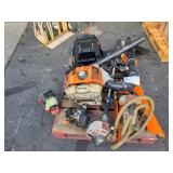 PALLET OF COMMERCIAL LANDSCAPING TOOLS