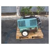 PALLET 1 GAS POWERED AIR COMPRESSOR AND ONE METAL