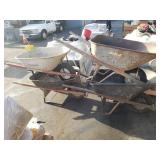 LOT OF 4 WHEEL BARROWS