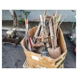 LOT OF LANDSCAPING HAND TOOLS