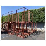 LOT WITH 6 PALLET RACKING