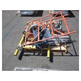 1 PALLET OF SCAFFOLDING  AND GREENLEE CABLE