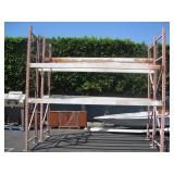 2 PALLET RACK UPRIGHTS WITH CROSS MEMBERS