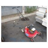 1 RED LAWN MOWER