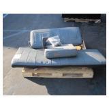 GRAY CAR BENCH SEAT