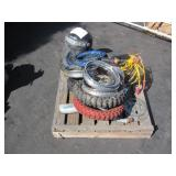 PALLET OF MOTORCYCLE TIRES & EQUIPMENT