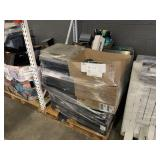 PALLET WITH PRINTERS, SECURITY CAMERAS, DC POWER