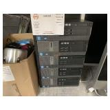 LOT WITH 5 DELL OPTIPLEX 7010 COMPUTERS