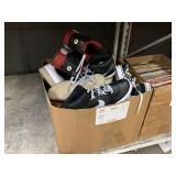 BOX WITH ASSORTED SHOES