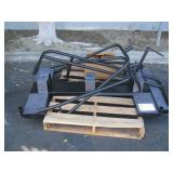 METAL MOVING CART WITH CASTERS