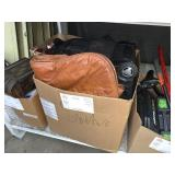 BOX WITH SUITCASE & RIFLE CASE