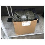 BOX WITH ASSORTED LEATHER JACKETS