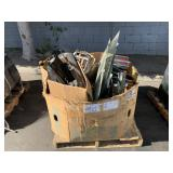 PALLET WITH ASSORTED AUTOMOTIVE PARTS