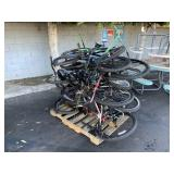 PALLET WITH ASSORTED BICYCLES