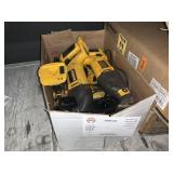 BOX WITH ASSORTED DEALT RECIPROCATING SAWS