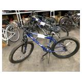 BLUE HUFFY MOUNTAIN BICYCLE