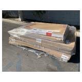 LOT WITH STAPLES DOUBLE SIDED DRY ERASE EASEL