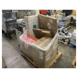 PALLET WITH VERSA DESK POWER PRO & OFFICE CHAIR