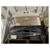 PALLET WITH 2 CARRY TOOL BOXES, OFFICE CHAIR &