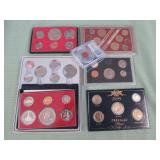 1 BAG W/COLLECTABLE COINS, 1 SET OF 1999 24KT