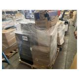 PALLET WITH FABRIC TASK CHAIR, HORIZONTAL STORAGE