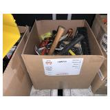 BOX WITH ASSORTED HAND TOOLS