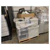 PALLET WITH ASSORTED PRINTERS, FAX, MONITORS