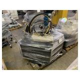 PALLET WITH MONITORS, BICYCLES WHEELS, GOLF