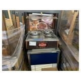 LOT WITH REFRIGERATOR CART & SOUP WARMER
