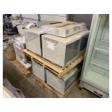 PALLET WITH OLYMPUS MONITORS & IMAGES MEDICAL