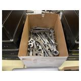 BOX WITH ASSORTED WRENCHES