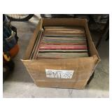 BOX WITH ASSORTED VINYL RECORDS