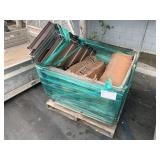 PALLET WITH ROOFING MATERIAL