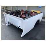 WHITE TRUCK BED WITH ASSORTED REAR LIGHTS