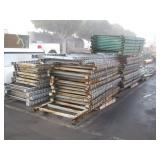 ROW OF PALLET RACK UPRIGHTS & CROSS MEMBERS