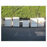 5 PALLETS OF RETAINING WALL MATERIALS