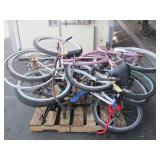 PALLET OF ASSORTED BIKES